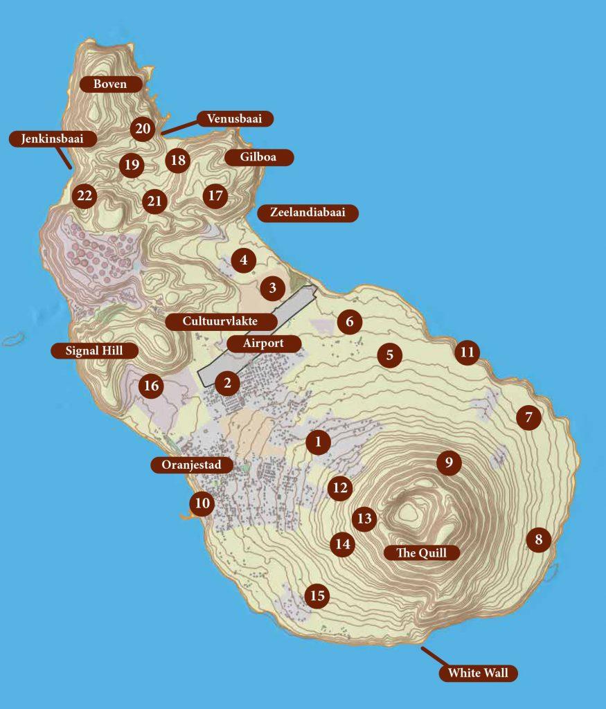 Plattegrond St. Eustatius