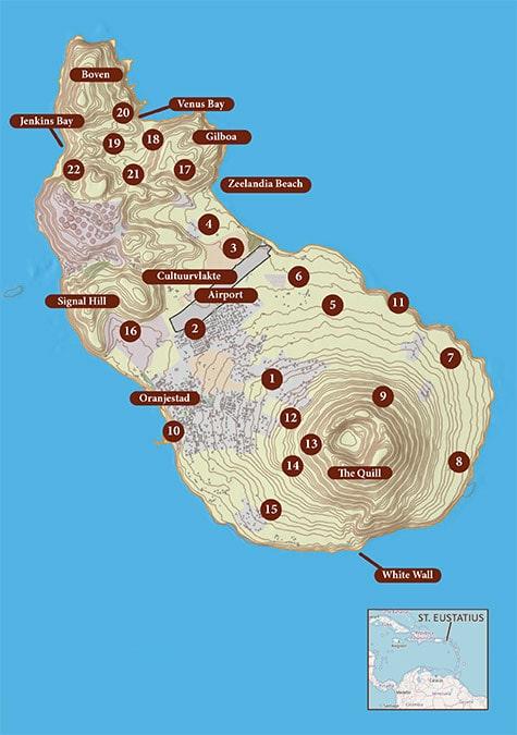 map st. eustatius